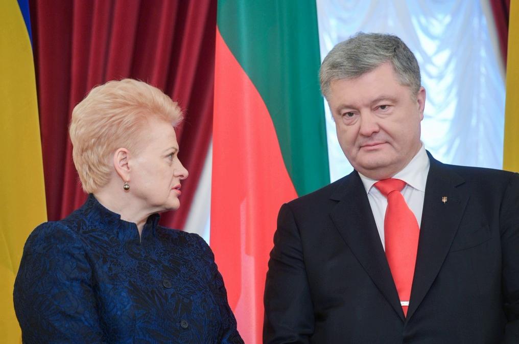 украина, литва, агрессия, азов, порошенко, грибаускайте, санкции
