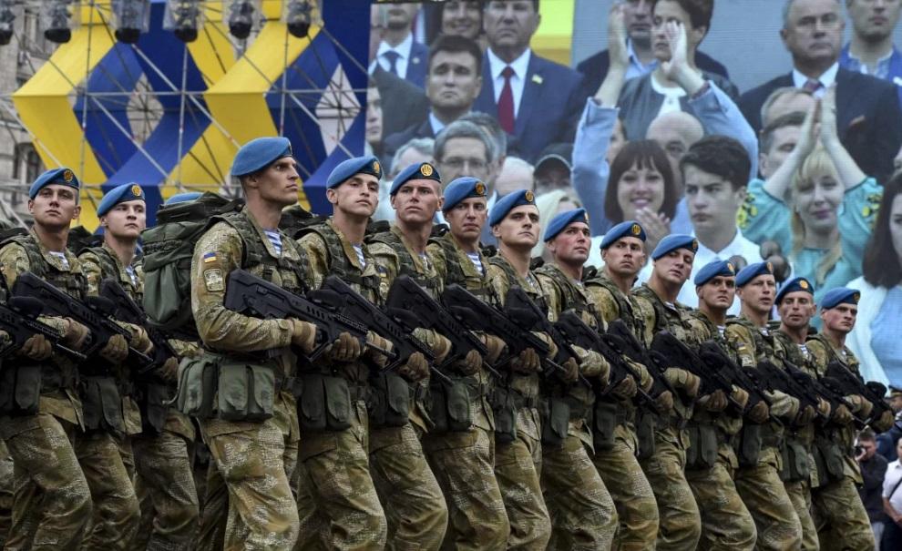 новости, Украина, Киев, День Независимости, парад, марш, ветераны АТО, ВСУ