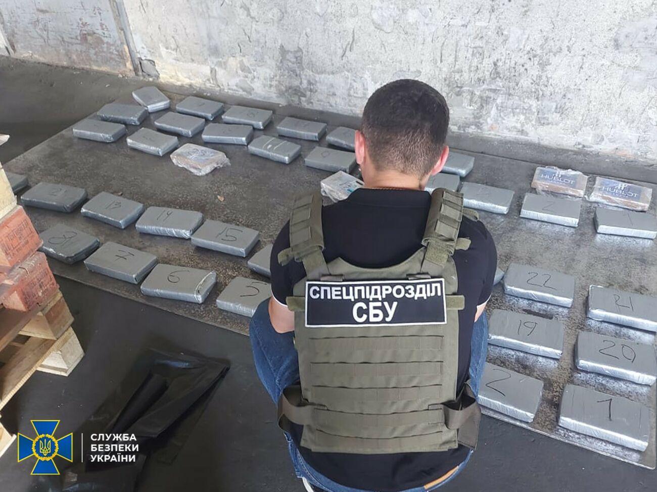 46 брикетов на 57 килограммов: под Одессой накрыли контрабанду кокаина в бананах