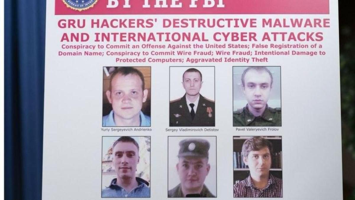 В США в прямом эфире огласили обвинение шести офицерам ГРУ РФ, причастным к NotPetya и вмешательству в выборы
