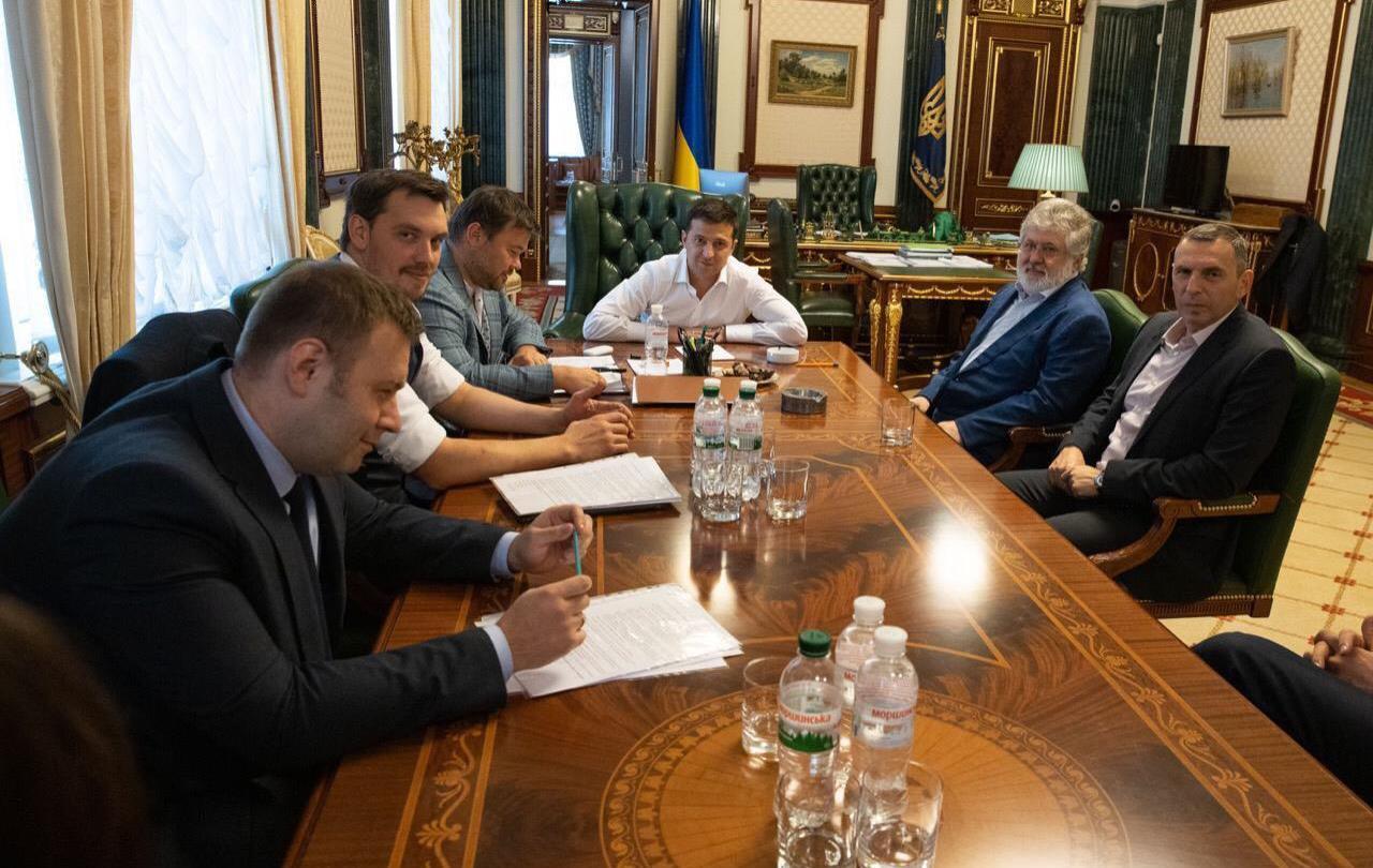 деталь новости, Зеленский, Коломойский, встреча, реакция, соцсети, фото