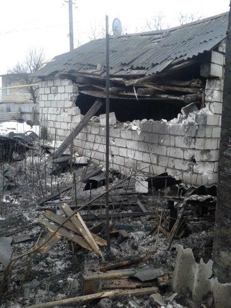 Последствия обстрела микрорайона Семашко 22 января