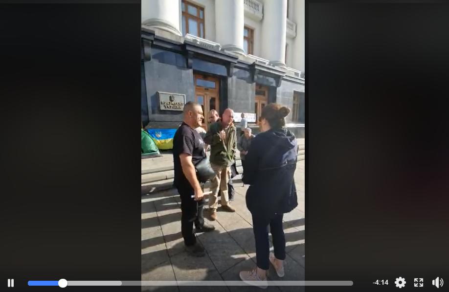 война на Донбассе, переселенцы, видео, протест, требования, анна Коваленко