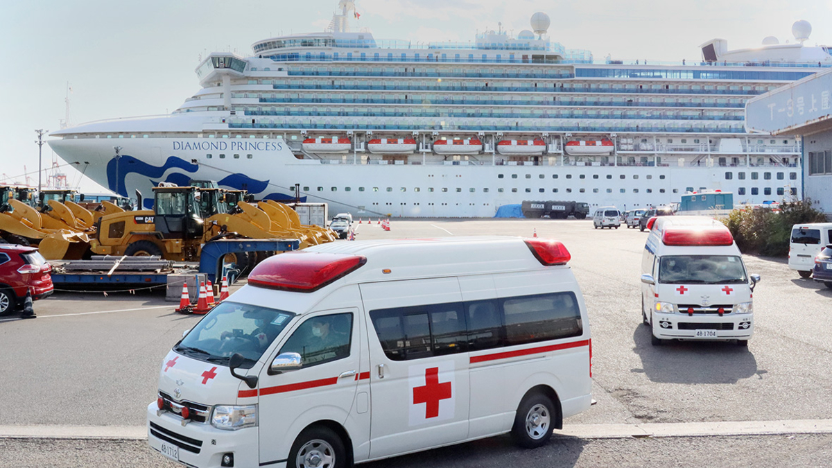 Украинцы отказались возвращаться в Украину с лайнера Diamond Princess, охваченного коронавирусом
