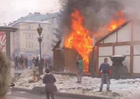 На ярмарке во Львове прогремели взрывы, и начался пожар: много раненых, два человека в реанимации - фото и видео