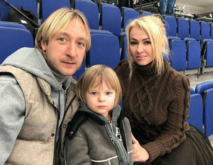 Яна Рудковская,  Евгений Плющенко, продюсер, фигурист, угрозы, сын, полиция