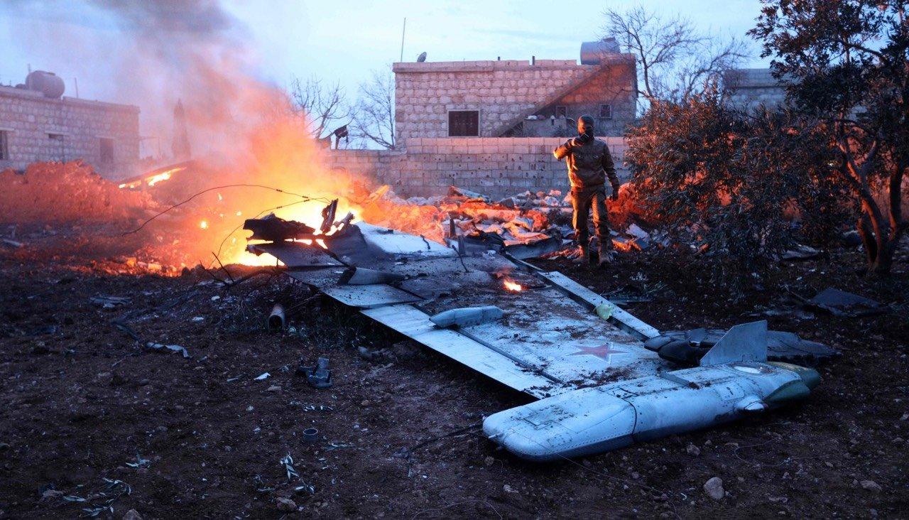 Катастрофа российского Су-25 в Сирии: опубликовано видео, подтверждающее вранье российских властей, - кадры