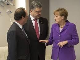 Встреча Порошенко, Олланда и Меркель в расширенном формате завершилась