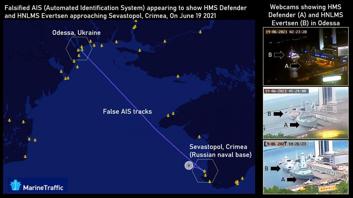"""Хакеры подделали данные расположения кораблей НАТО, """"переместив"""" их из Одессы к Севастополю, – СМИ"""