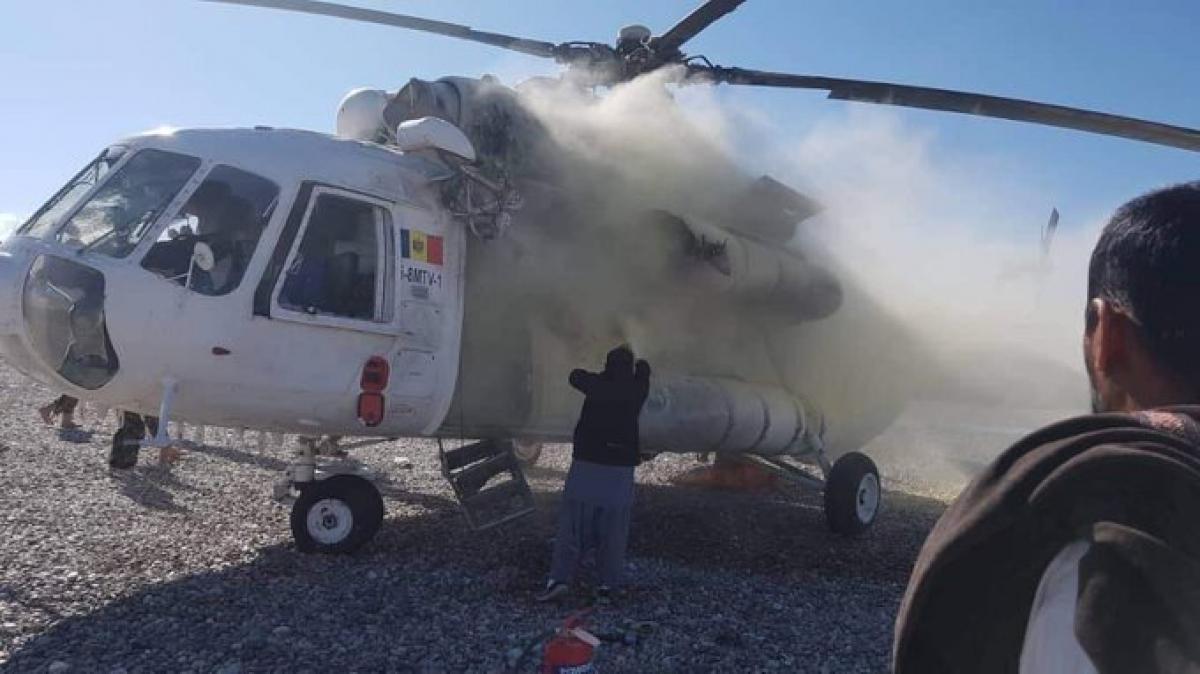 В Афганистане вертолет с украинцами попал под ракетный удар: видео