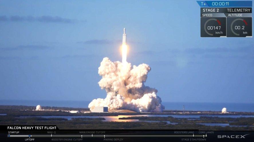Tesla улетела на Марс: SpaceX Илона Маска успешно запустила в космос легендарную Falcon Heavy - подробности и кадры