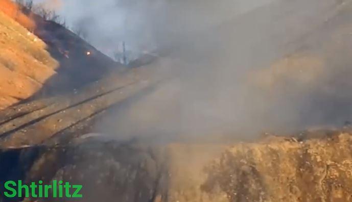 """Блестящий разгром главной позиции боевиков в Донецке: мощное видео, как """"Осы"""" превратили """"Крокодил"""" в сплошной дым"""