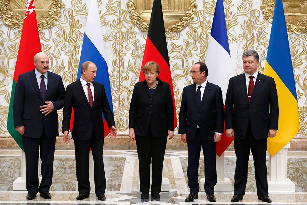 """Минские переговоры """"нормандской четверки"""" по Украине в фотографиях"""