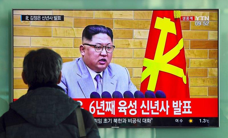 Ким Чен Ын в стильном костюме на западный манер в новогодней речи пригрозил США ядерным оружием Северной Кореи