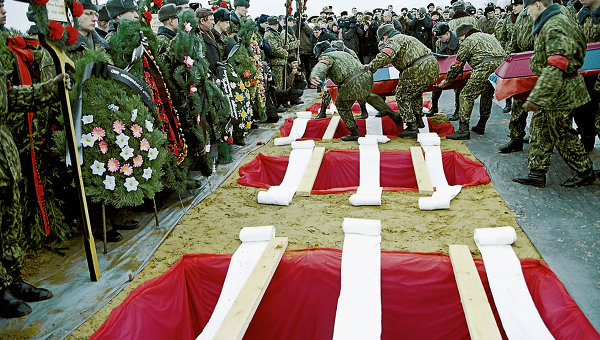 Российские СМИ: под Псковом прошли закрытые похороны российских десантников