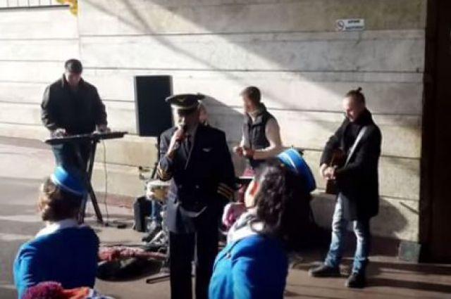 Кикабидзе дал концерт на станции киевского метро
