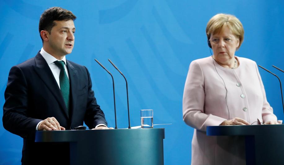 Зеленский, Меркель, Германия, обезвоживание, плохое самочувствие