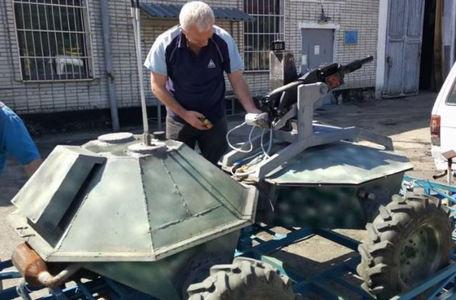 """""""Черепашка"""" с гранатометом: украинские разработчики показали впечатляющие кадры с испытаний нового военного робота"""