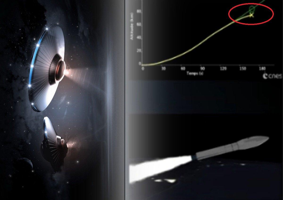 пришельцы, запуск ракеты, видео, атака, космос, уфология, неудача