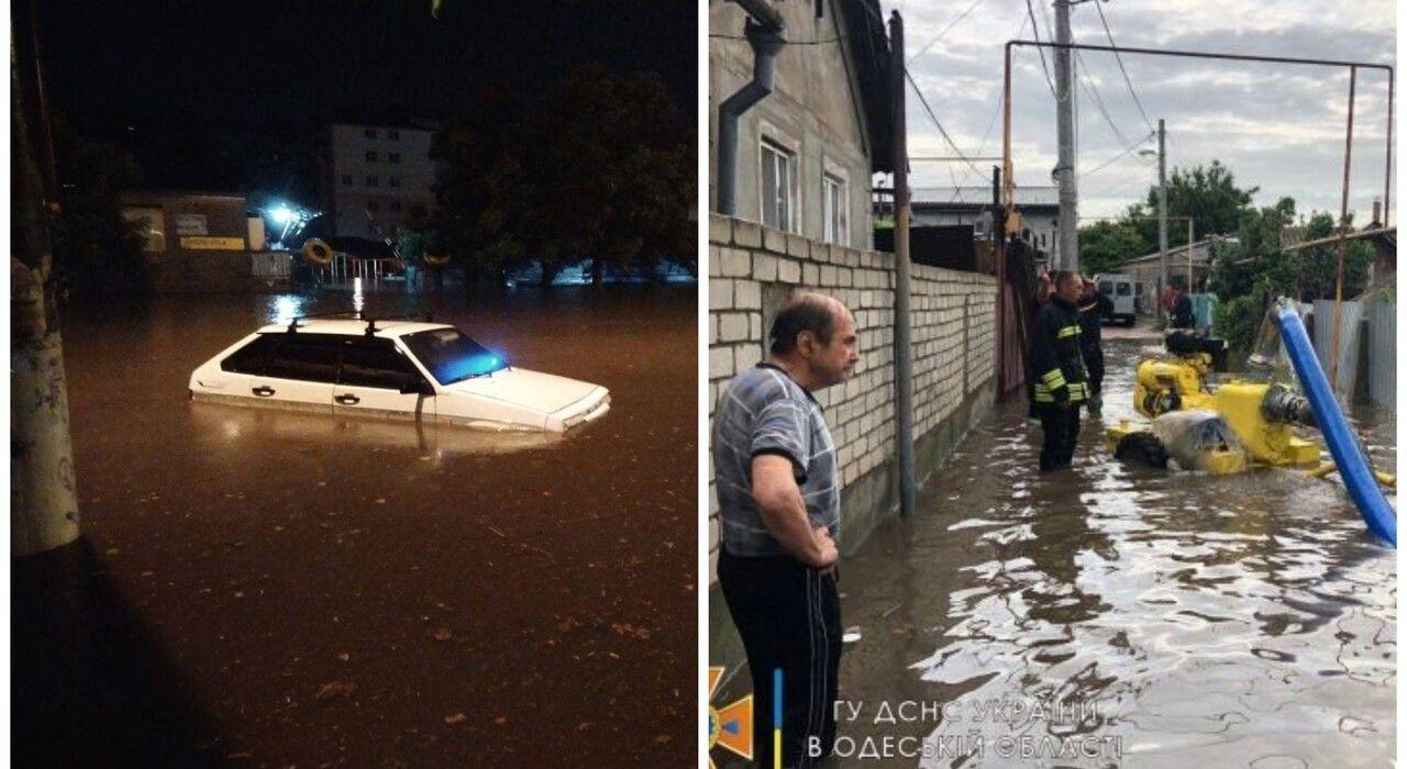 Одесса ушла под воду: из-за дождей отключен свет, затоплены дороги и заблокированы самолеты