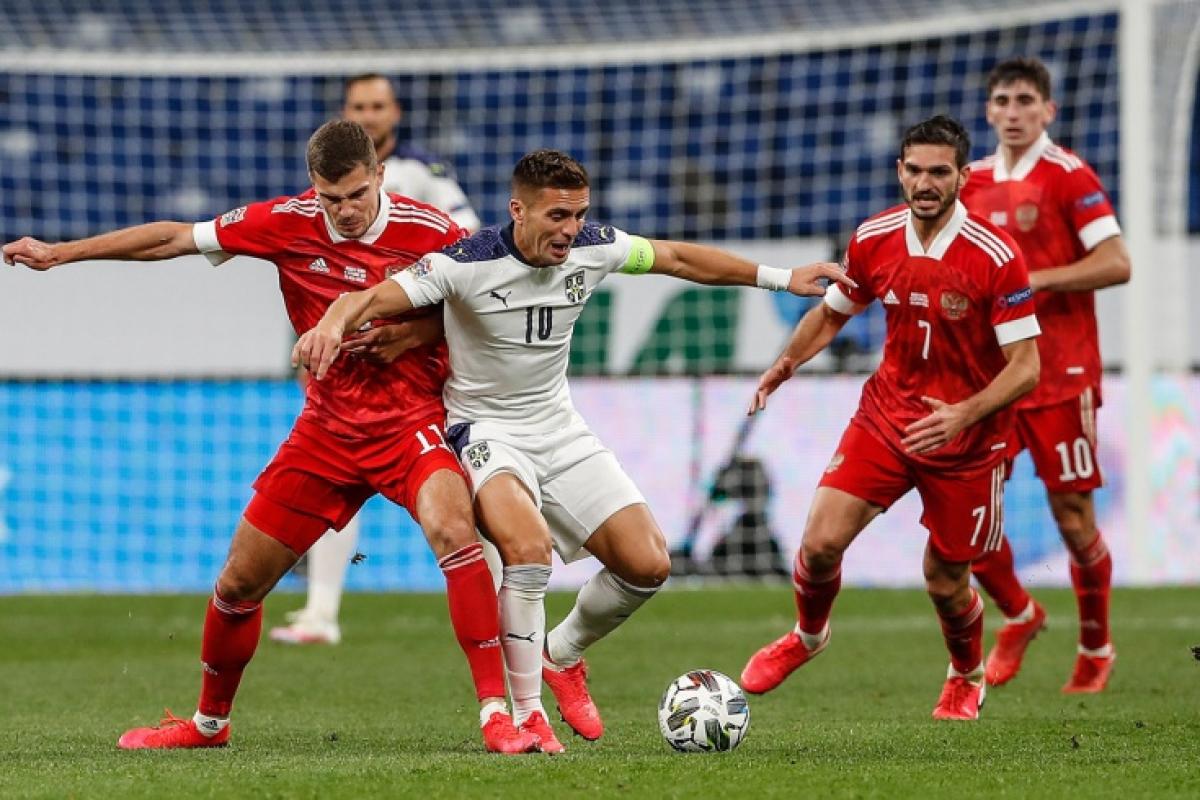 Маленькая Сербия разгромила сборную России в Лиге наций со счетом 0:5, видео лучших моментов