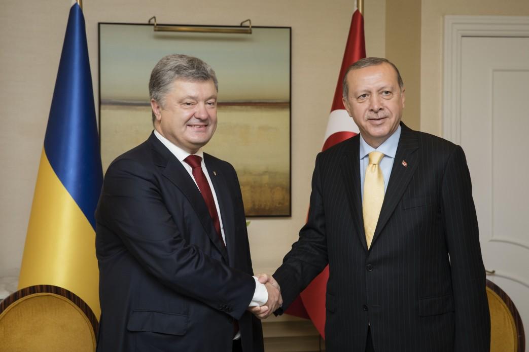 Петр Порошенко встретился с Реджепом Тайипом Эрдоганом: президент Турции подтвердил поддержку суверенитета украинского государства