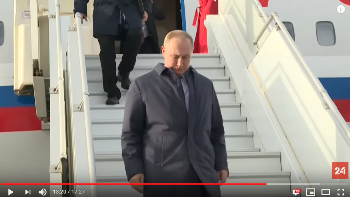 Aurus, Путин, российский флаг порвали, Зеленский, Переговоры, Донбасс, Нормандская встреча