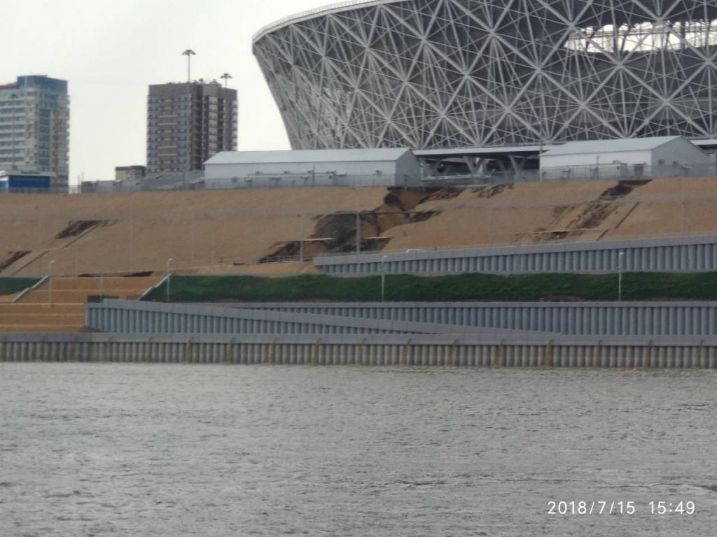 Волгоград, новости, происшествия, стадион, Волгоград=арена, непогода, дождь, дорога