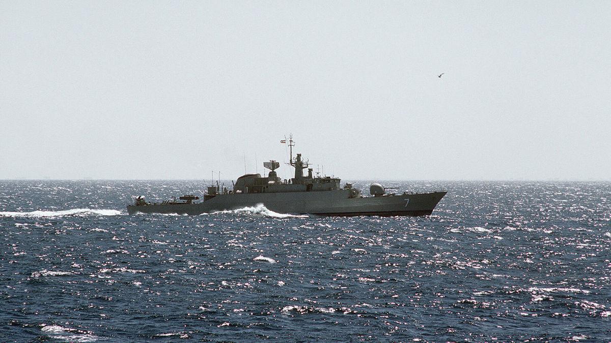 Военный корабль Ирана вторгся в территориальные воды Эстонии