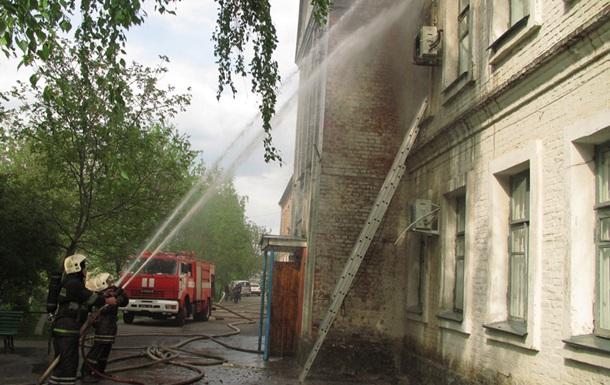 В Полтаве пылала больница: огонь охватил эндокринологическое отделение