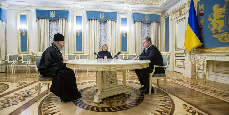 Петр Порошенко провел встречу с главой УПЦ МП Онуфрием – кадры
