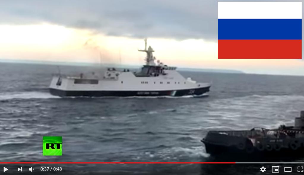 РосТВ показало видео, как российские корабли пошли на таран ВМФ Украины в Азовском море: в соцсетях ажиотаж