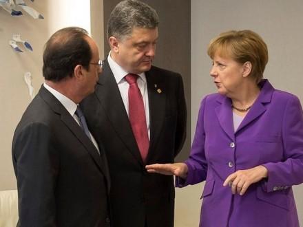 Стала известна дата встречи Порошенко с Олландом и Меркель