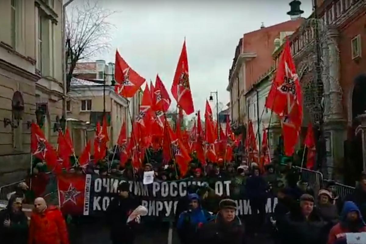 россия, марш, шествие, путин, компартия, левые, протест