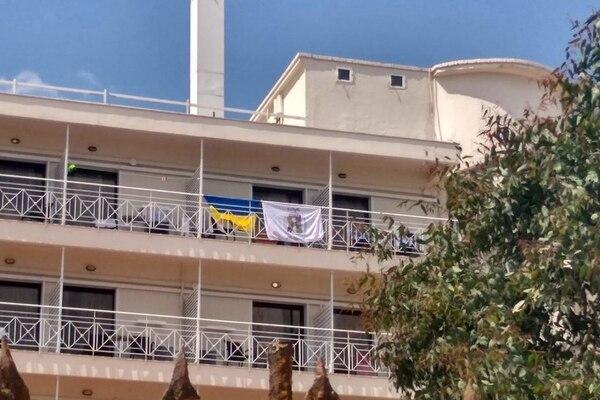 греция, украина, отель, скандал, флаг