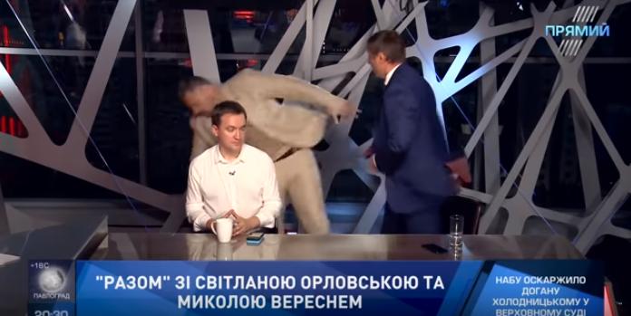 Мосийчук снова в центре конфликта: нардеп подрался в прямом эфире с коллегой по Парламенту Шаховым  – кадры