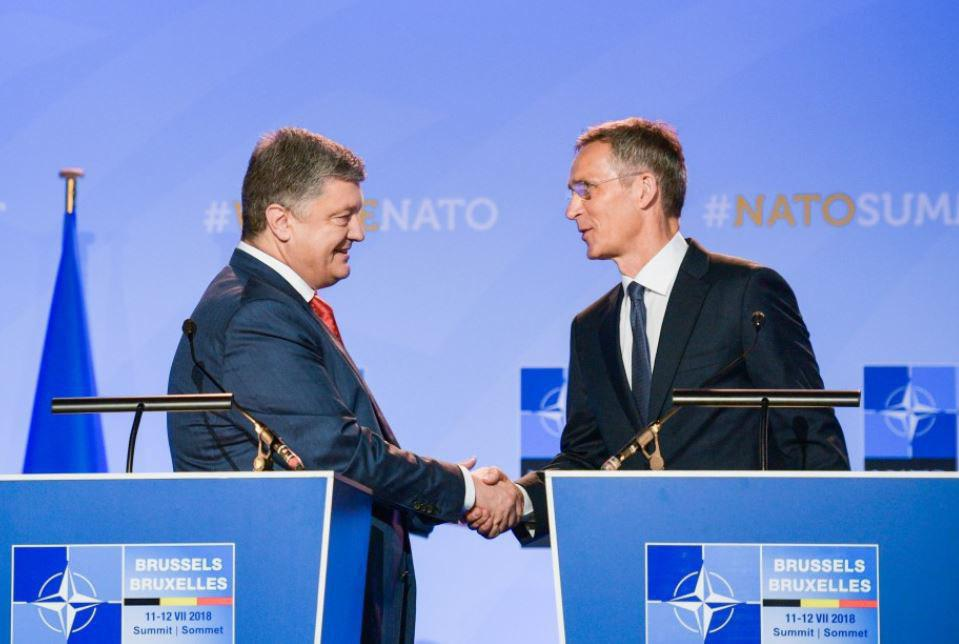 Интеграция в НАТО будет зафиксирована в Конституции Украины: яркие кадры встречи Порошенко и Столтенберга
