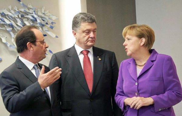 порошенко, меркель, олланд, переговоры, мир в украине, трехсторонняя встреча, АТО, донбасс