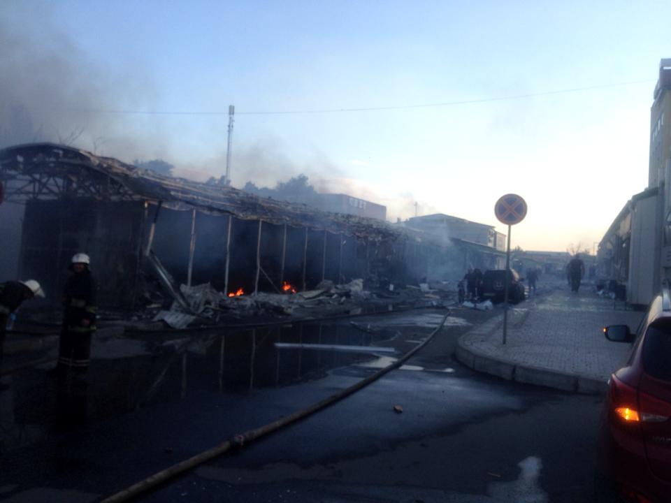 Что осталось от ж\д вокзала в Донецке после пожара