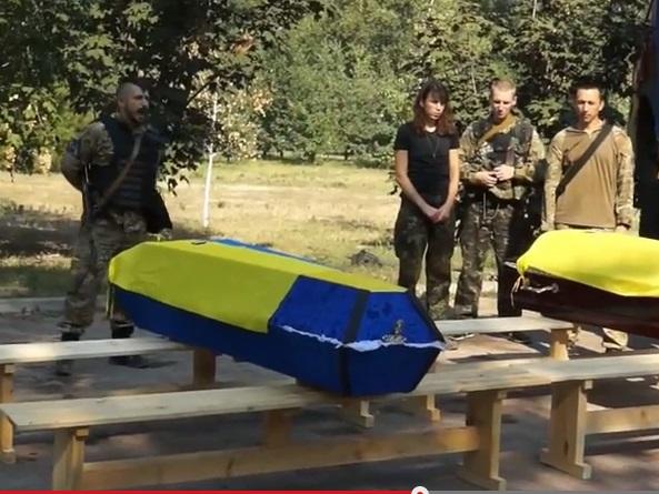 """Как прощались с погибшими бойцами """"Азова"""" и мужем Татьяны Чорновол"""