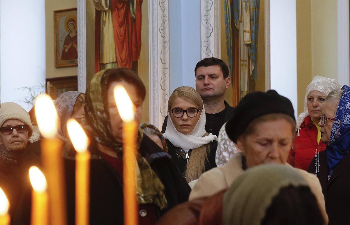 Тимошенко приехала молиться в прифронтовой Донбасс и удивила заявлением об Украине - фото