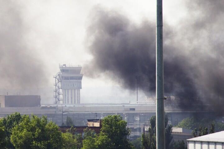 В Донецке продолжаются активные боевые действия