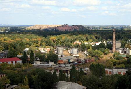 Подробности обстрела Донецка у террикона шахты «Панфиловская»