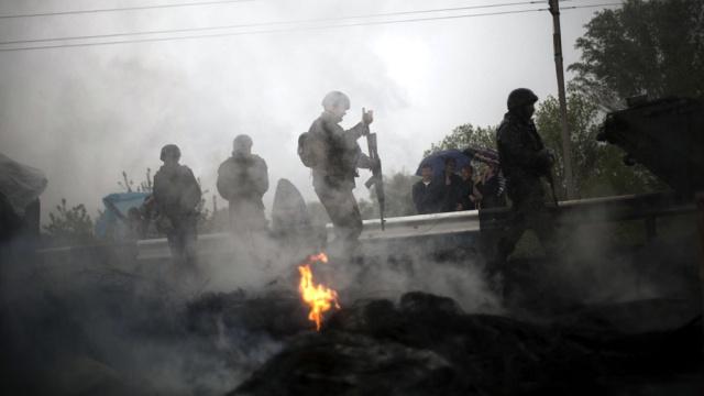 Ночью в Донецке продолжались бои