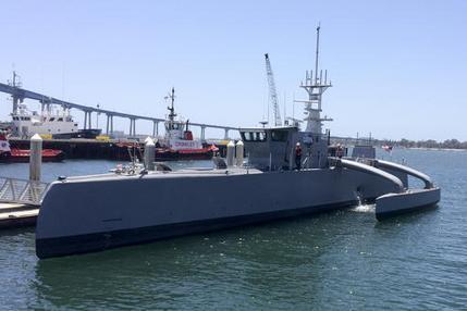 Пентагон начал тестирование полностью автономного корабля-разведчика: робот служит для выявления подлодок врага