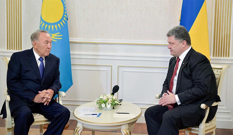 Назарбаев - Порошенко: Главное, чтобы вы прямо, с глазу на глаз, говорили с Путиным