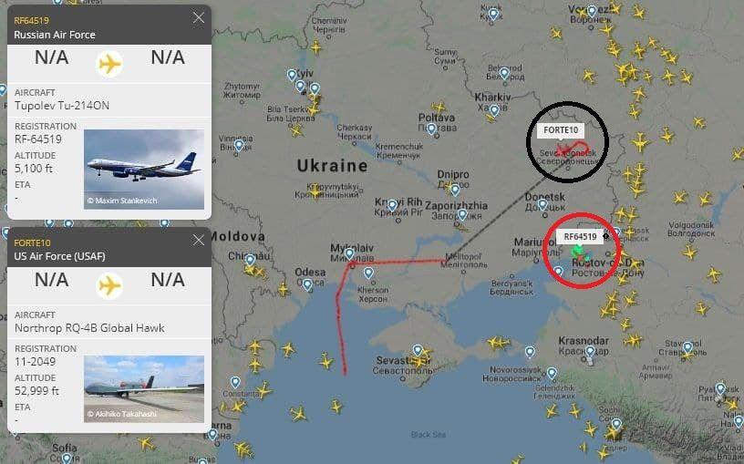 США направили на Донбасс RQ-4 Global Hawk – Россия в ответ подняла в воздух Ту-214ОН со стороны Таганрога 1