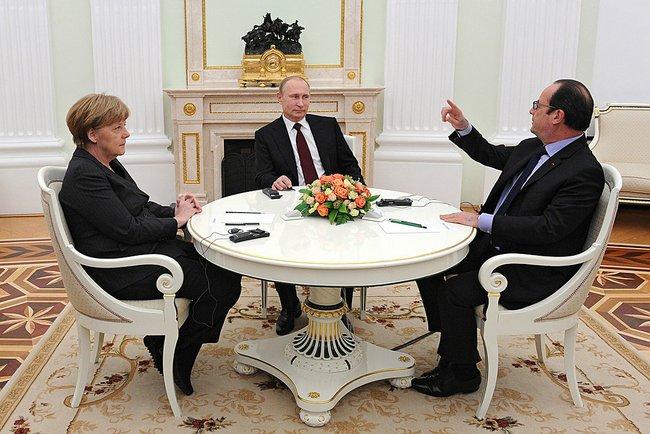 политика, путин, порошенко, олланд, меркель, украина, россия, германия, франция, донбасс, минские соглашения, восток украины