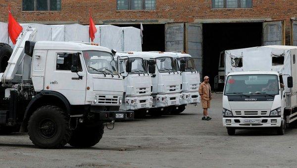 Все грузовики гуманитарной помощи РФ доехали до Луганска и начали разгрузку