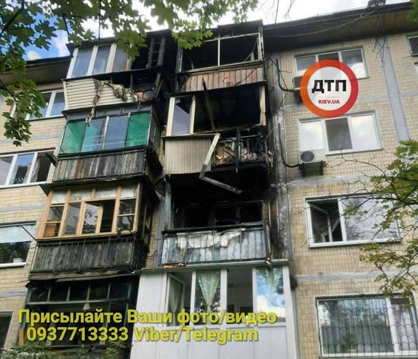 Сильный пожар в Киеве за считанные минуты уничтожил несколько балконов в жилом доме: опубликованы кадры ЧП